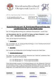 Ausschreibung zum 18. Kreisjugendfeuerwehrtag des ... - KFV-OSL