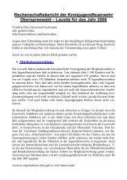 Rechenschaftsbericht der Kreisjugendfeuerwehr ... - KFV-OSL