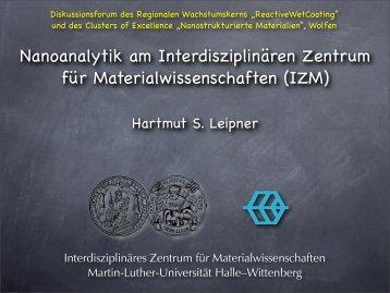 Nanoanalytik am Interdisziplinären Zentrum für ...