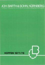 HOPFEN 1977 /78 - Barth-Haas Group