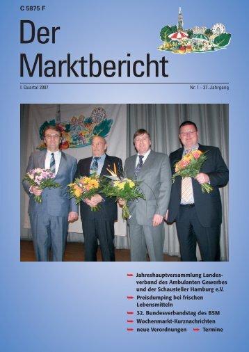 Marktbericht I. Quartal 2007 - Hamburger Wochenmärkte