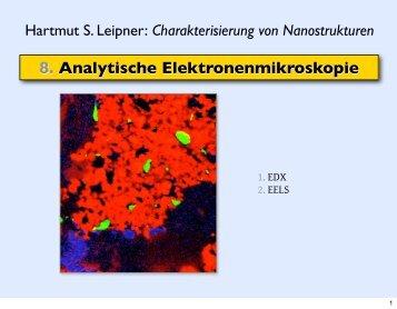 8. Analytische Elektronenmikroskopie