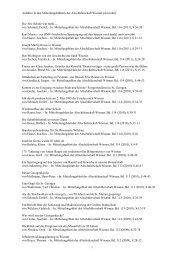 Auswahl von Themen von Beiträgen in den Mitteilungsblättern