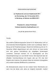 Pressemitteilung Brau Beviale 2011 - Verband Deutscher ...