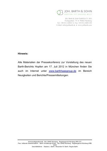 Pressemappe - Barth-Haas Group