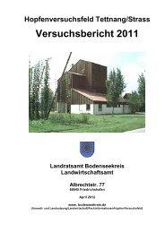 Hopfenversuchsfeld Tettnang-Strass Versuchsbericht 2011