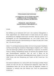 pressekonferenz - Verband Deutscher Hopfenpflanzer e.V.