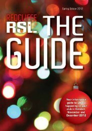 Spring Editien EH12 'Your inferrnetiue guide to ... - Redcliffe RSL