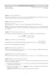 Übungsblatt - Physik-Department TU München