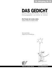 Anton G. Leitner Verlag / DAS GEDICHT
