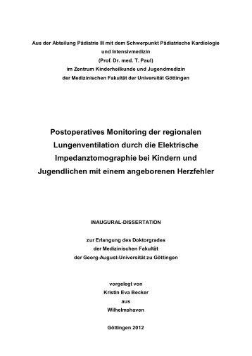 Postoperatives Monitoring der regionalen Lungenventilation durch ...