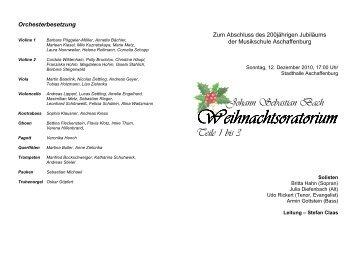 Johann Sebastian Bach Weihnachts Weihnachtsoratorium Teile 1