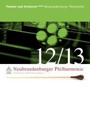 Neubrandenburger Philharmonie - Theater und Orchester