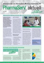 Informationen der PharmaServ Marburg GmbH &Co.KG