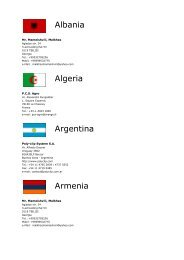 List of our sales and service partners worldwide - Kilia