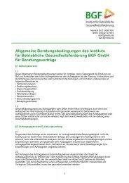Allgemeine Beratungsbedingungen des Instituts für Betriebliche ...