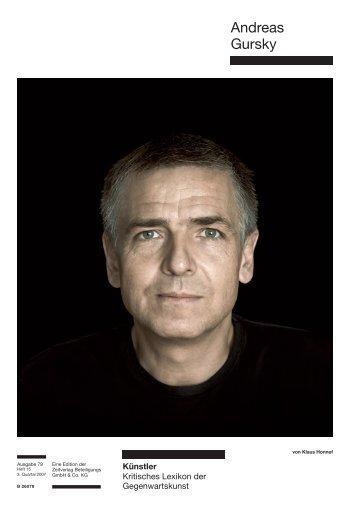 Andreas Gursky - Zeit Kunstverlag