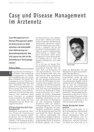 Case und Disease Management im Ärztenetz - Forum Managed Care