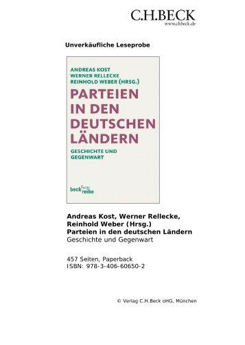 Andreas Kost, Werner Rellecke, Reinhold Weber (Hrsg ... - C.H. Beck