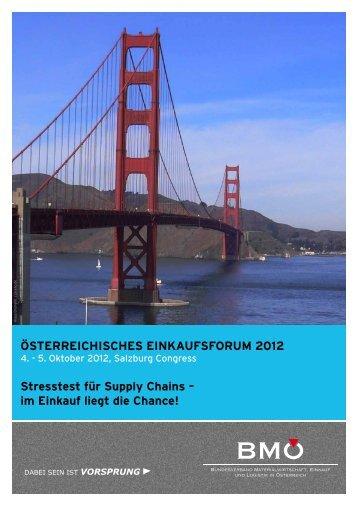 österreichisches einkaufsforum 2012 - Bundesverband ...