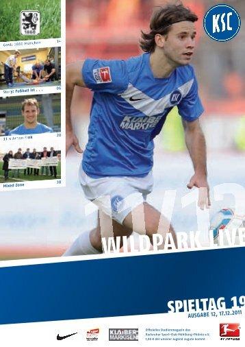 Stadionzeitung 19. Spieltag (KSC - 1860 München) - Karlsruher SC