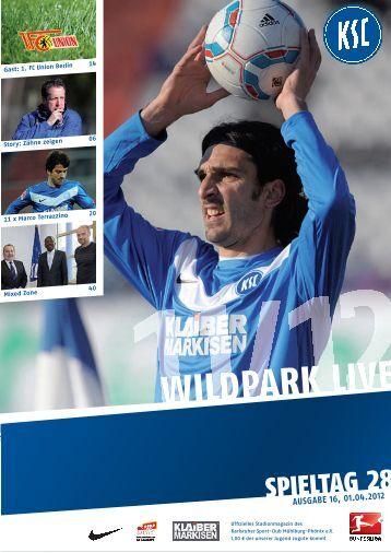 Stadionzeitung 28. Spieltag (KSC - Union Berlin) - Karlsruher SC