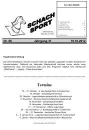 1. Klasse Nord, 2. Runde, Samstag, 13.10.2012 - Schach ...