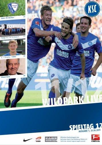 Stadionzeitung 12. Spieltag (KSC - VfL Bochum) - Karlsruher SC