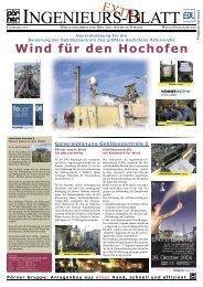 Wind für den Hochofen - Pörner Ingenieurgesellschaft mbH
