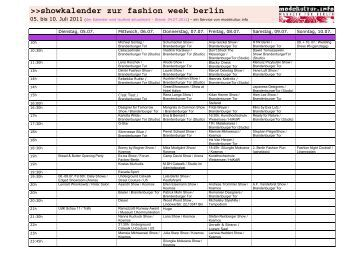 showkalender zur fashion week berlin - Modekultur.info