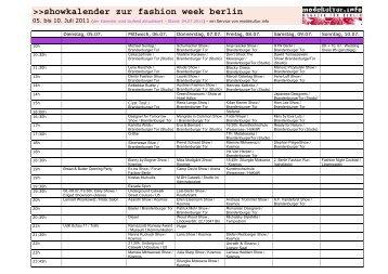 showkalender zur fashion week berlin - Modekultur.info