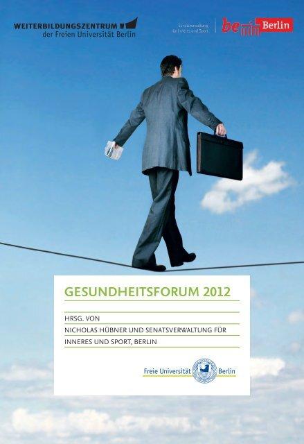 Gesundheitsforum 2012 - Freie Universität Berlin