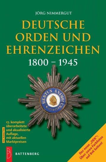 deutsche orden und ehrenzeichen 1800
