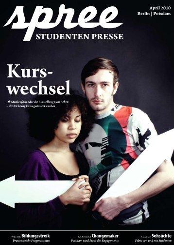 spree #2/2010 als PDF laden - STADTSTUDENTEN Berlin