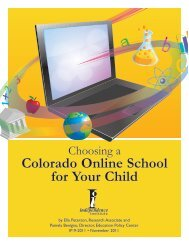 Colorado Online School for Your Child - Education Policy Center ...