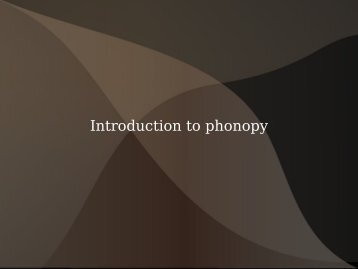 Introduction to phonopy - icms3