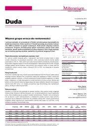 Wycena akcji PKM DUDA SA Rekomendacja: kupuj