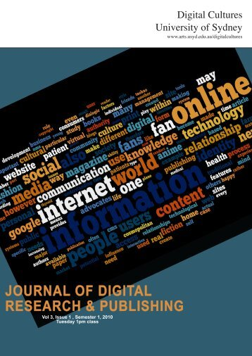 journal of digital research & publishing - The Sydney eScholarship ...