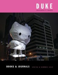 Spring 2013 Catalog - Duke University Press