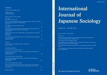Post-3/11 Japan and the Radical Recontextualization of Value - MIT