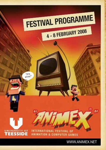 Festival programme - Animex - University of Teesside