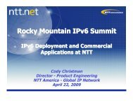 NTT - A global IPv6 deployment case study