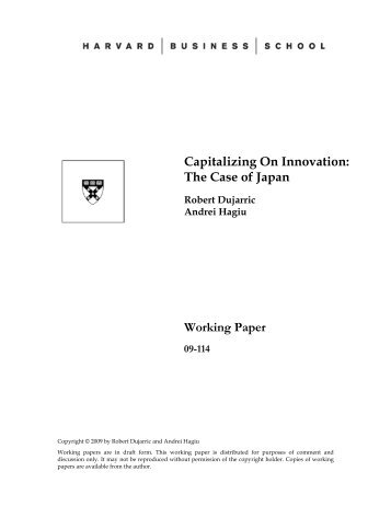 Capitalizing On Innovation - Temple University, Japan Campus
