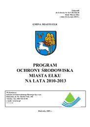 Program Ochrony Środowiska Miasta Ełku na lata 2010 - BIP