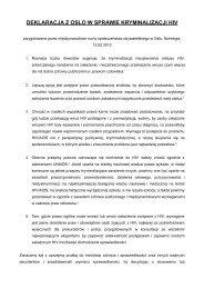 deklaracja z oslo w sprawie kryminalizacji hiv - Trans-Fuzja