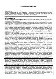 HG Cantacuzino indicatori - Ministerul Sanatatii