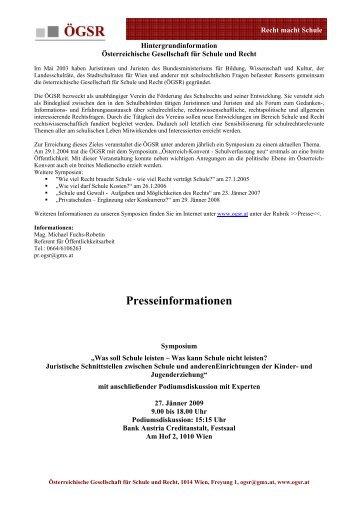 Jugendprävention - Österreichische Gesellschaft für Schule und Recht