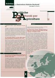 Bollettino Politiche Strutturali per l'Agricoltura N.24 - Inea