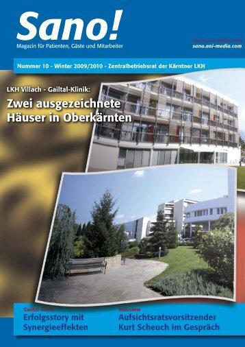 Zwei ausgezeichnete Häuser in Oberkärnten - Sano!