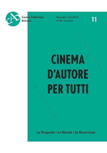 CINEMA D'AUTORE PER TUTTI - Rete Civica dell'Alto Adige